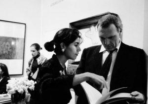 Nathalie Obadia et Sandro Chia, 1992 photographe Georges Poncet