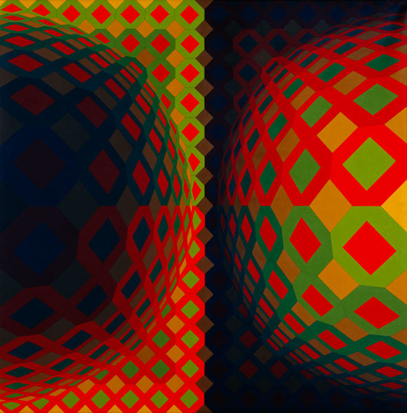 Vasarely, Pokol, 1973 - collection Renault - photographe georges poncet