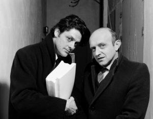 Bertrand Lavier et Jean-Michel Alberola, 1985. Photographe Georges Poncet