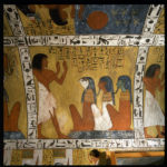 Plafond sud. Sennedjem adore 3 divinités.