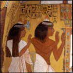 Tombe de Sennedjem. Le chant des offrandes. photo georges poncet