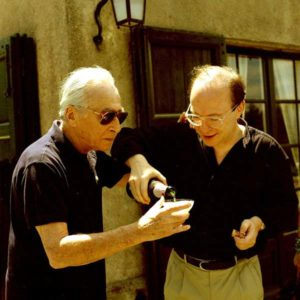 Leo Castelli avec Daniel Templon, 1990 photographe Georges Poncet