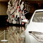 Voiture Renault et Praticable Dubuffet - collection Renault - photographe georges poncet