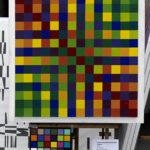 Quatre trames juxtaposées une couleur